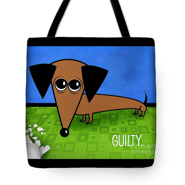 Tote Bag featuring the mixed media Guilty by Shevon Johnson