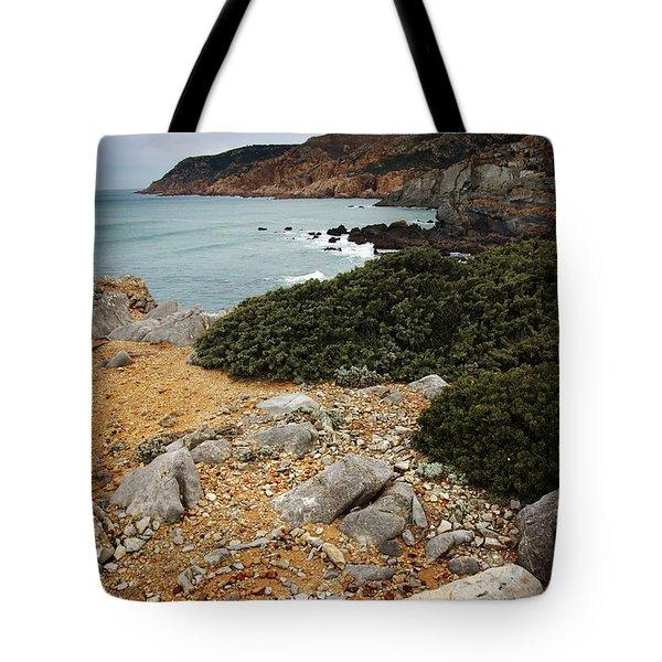 Guincho Cliffs Tote Bag by Carlos Caetano