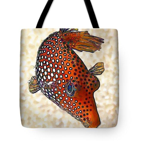 Guinea Fowl Puffer Fish Tote Bag