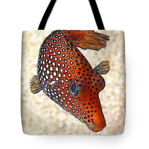 Guinea Fowl Puffer Fish Tote Bag