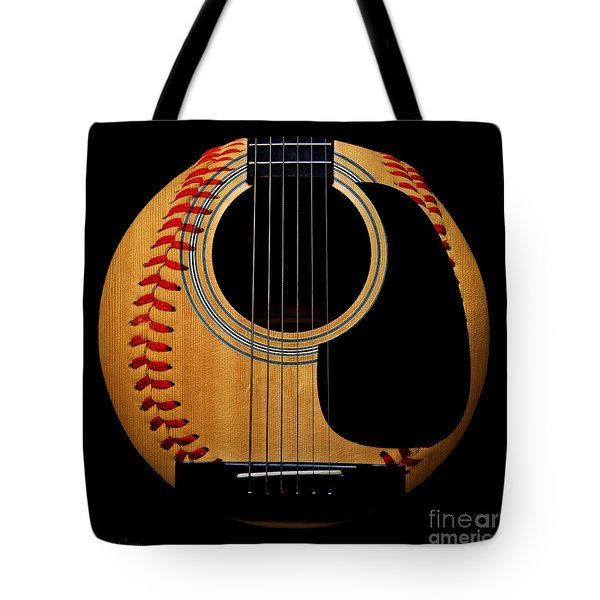 Guitar Baseball Square Tote Bag