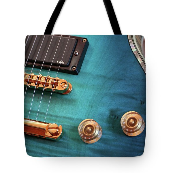 Tote Bag featuring the photograph Guitar Blues by Joy Watson