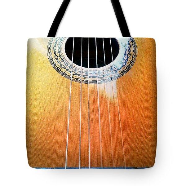 Guitar In The Light Tote Bag