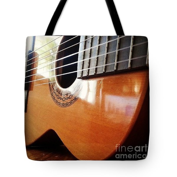 #guitar #music #musicalinstrument Tote Bag by Isabella F Abbie Shores FRSA