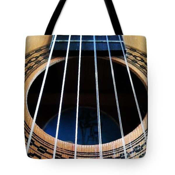 #guitar #music #musician Tote Bag by Isabella F Abbie Shores FRSA