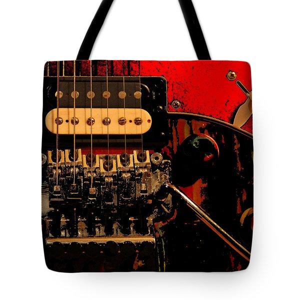 Tote Bag featuring the photograph Guitar Pickup by John Stuart Webbstock