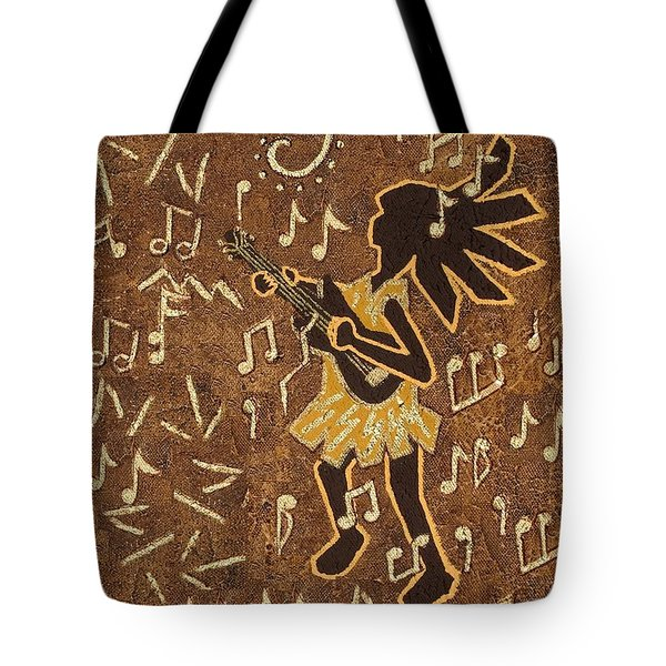 Guitar Player Tote Bag by Katherine Young-Beck