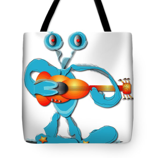 Tote Bag featuring the digital art Guitar Rocker by Marvin Blaine