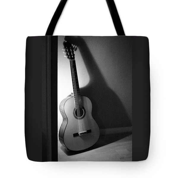 Guitar Still Life In Black And White Tote Bag