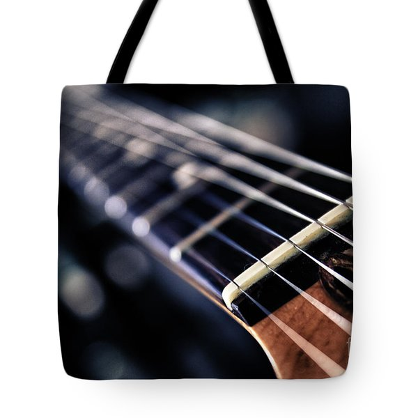 Guitar Strings Tote Bag by Stelios Kleanthous