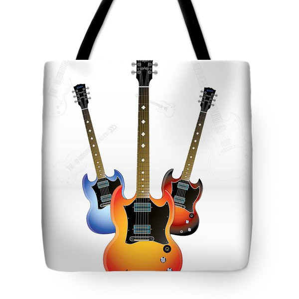 Guitar Style Tote Bag