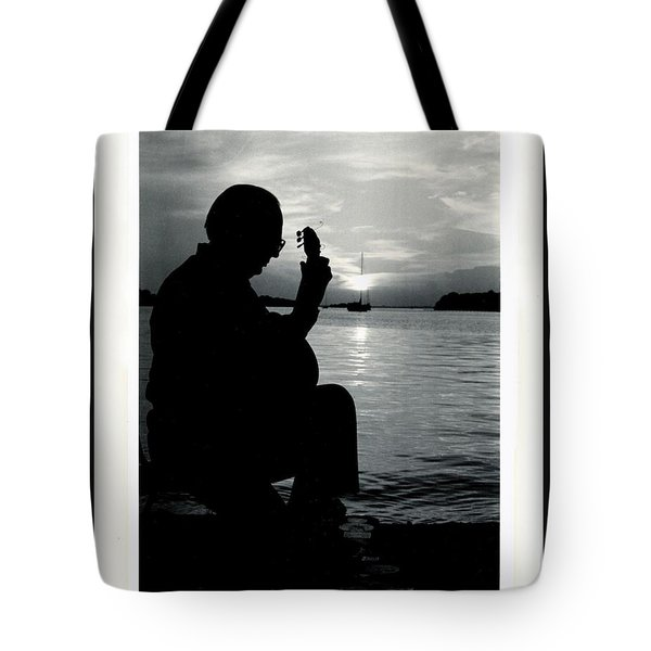 Guitarist By The Sea Tote Bag by The Art of Alice Terrill