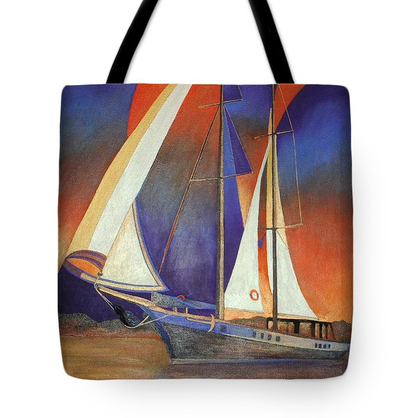 Gulet Under Sail Tote Bag