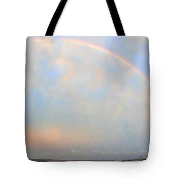 Tote Bag featuring the photograph Gulf Coast Rainbow by Charlotte Schafer