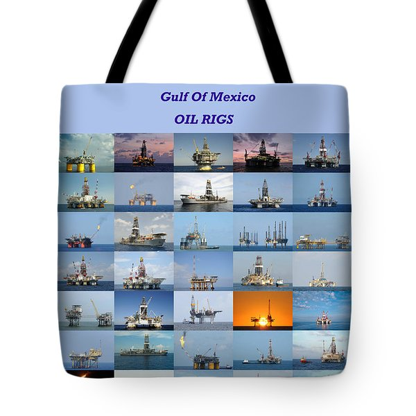 Gulf Of Mexico Oil Rigs Poster Tote Bag