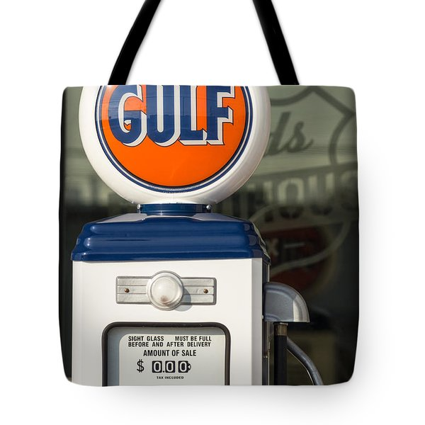 Gulf Oil Gas Pump Tote Bag