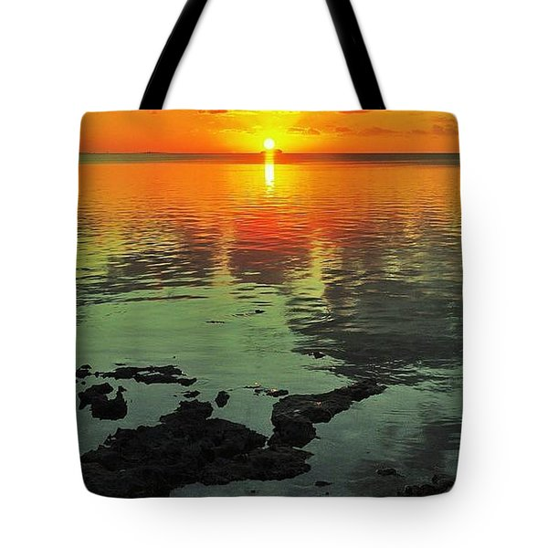 Gulf Sunset Tote Bag by Benjamin Yeager