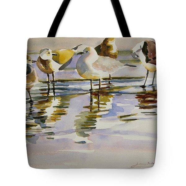 Gull Family Tote Bag