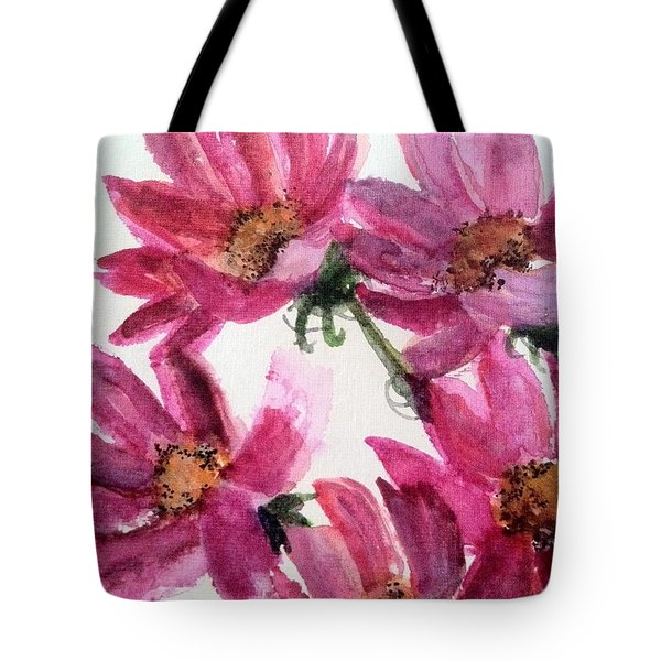 Gull Lake's Flowers Tote Bag by Sherry Harradence