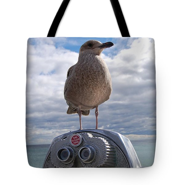 Tote Bag featuring the photograph Gull by Mim White
