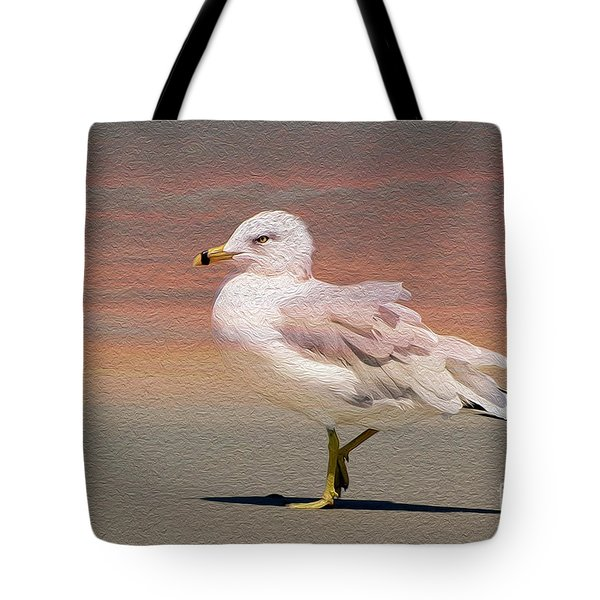 Gull Onthe Beach Tote Bag