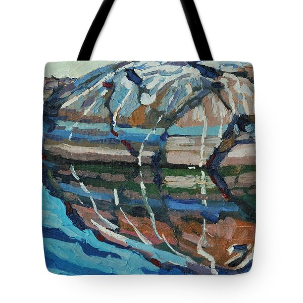 Gull Rock Tote Bag by Phil Chadwick