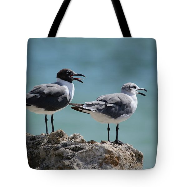 Gull Talk Tote Bag