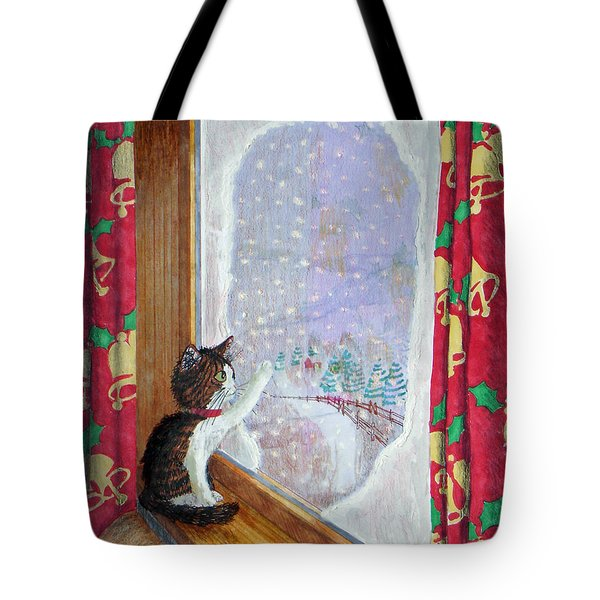 Gulliver And Snowflakes Tote Bag