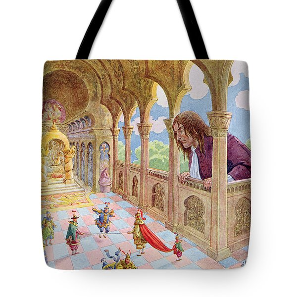 Gulliver At Lilliput Tote Bag by Jacques Onfray de Breville