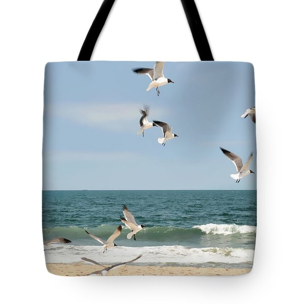 Gulls A Dance'n Tote Bag