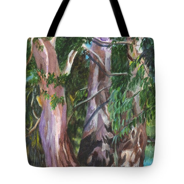 Gum Trees In Oz Tote Bag by Carol Wisniewski