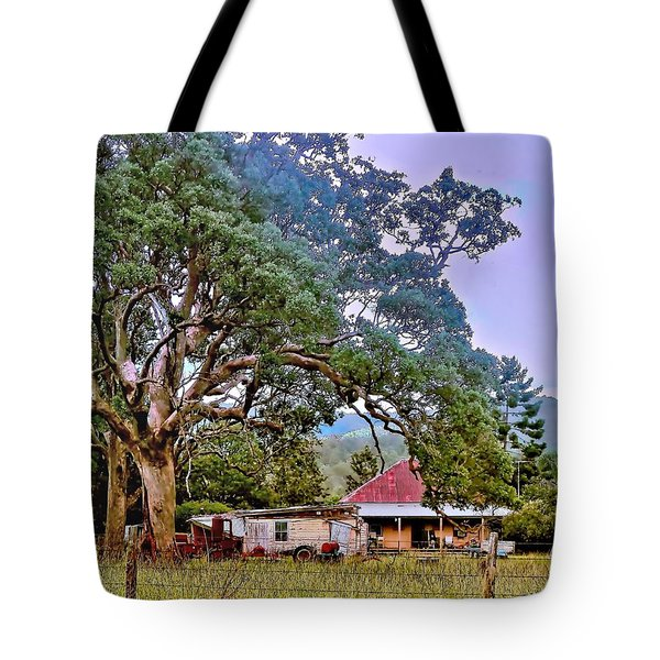 Tote Bag featuring the photograph Gumtree Gully by Wallaroo Images