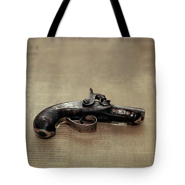 Gun Used By John Wilkes Booth Tote Bag