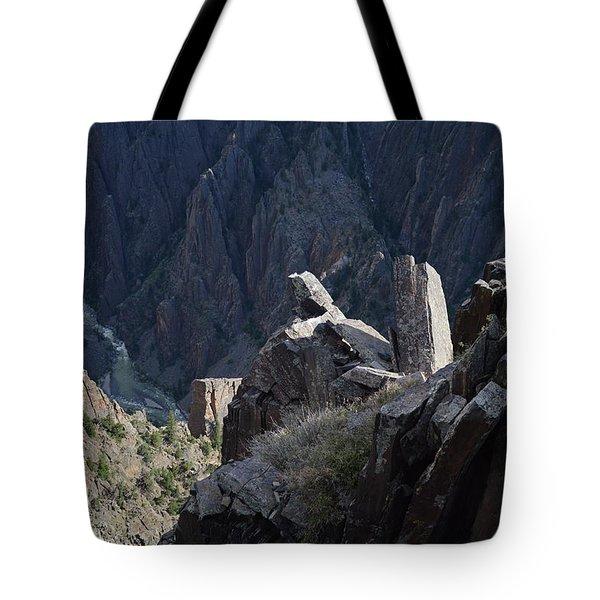 Gunnison River Winding Through The Black Canyon Tote Bag