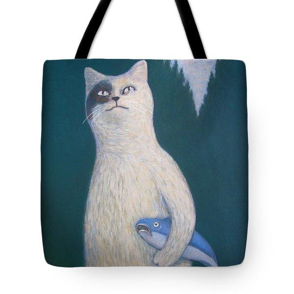 Gunter And His Pet Fish Klaus Tote Bag