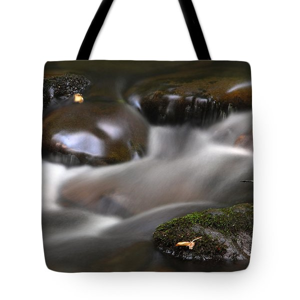 Tote Bag featuring the photograph Gurgling Brook by Andy Crawford