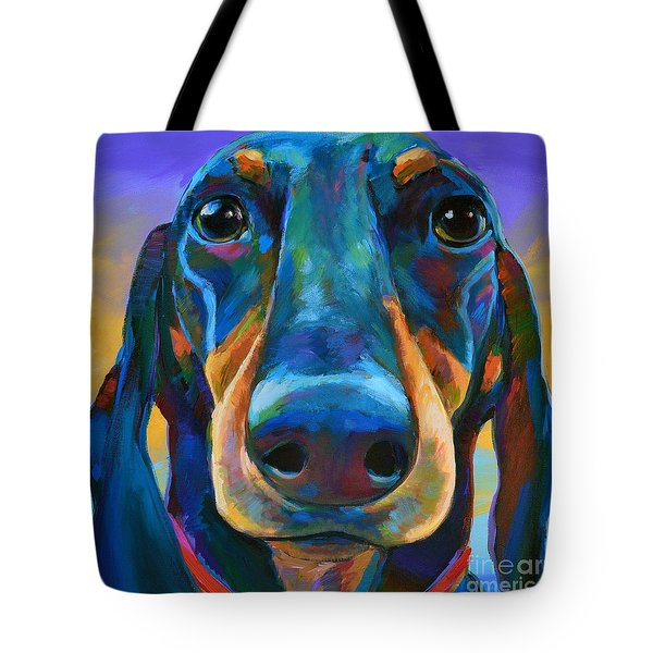 Tote Bag featuring the painting Gus by Robert Phelps