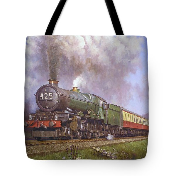 Gwr King Class On Dainton Bank. Tote Bag by Mike  Jeffries