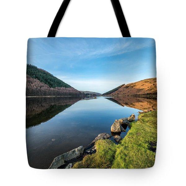 Gwydyr Forest Lake Tote Bag by Adrian Evans