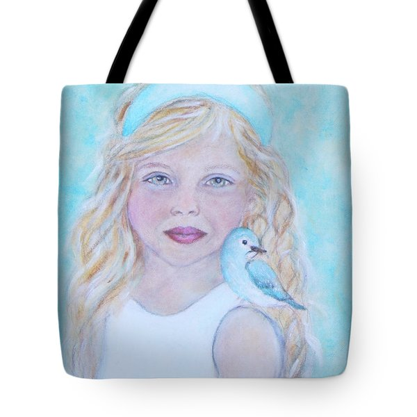 Gwyneth Little Earth Angel Of Happiness Tote Bag by The Art With A Heart By Charlotte Phillips
