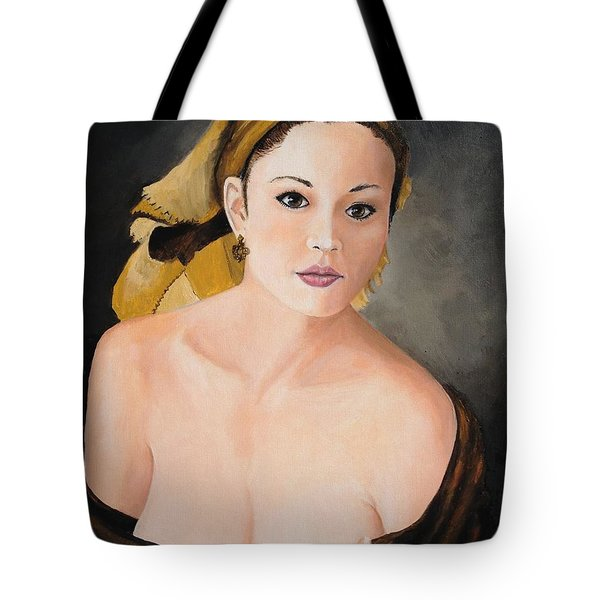 Tote Bag featuring the painting Gypsy by Alan Lakin