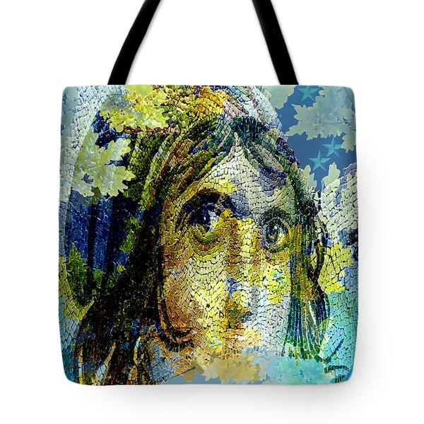 Gypsy Girl Mosaic Tote Bag