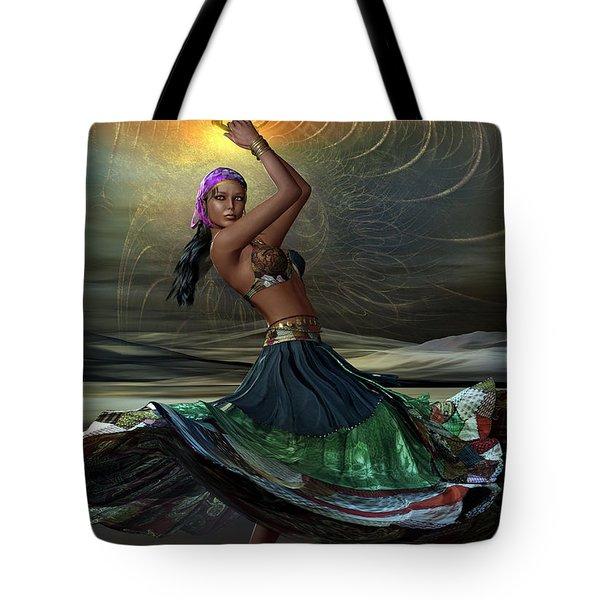 Tote Bag featuring the digital art Gypsy by Shadowlea Is