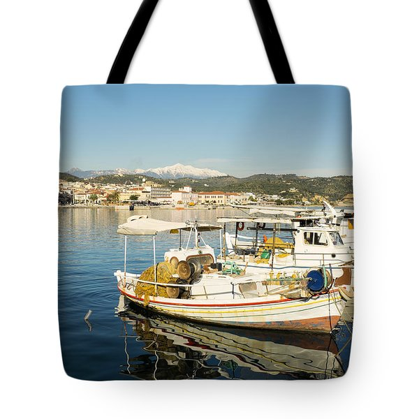 Gytheion Harbour Tote Bag