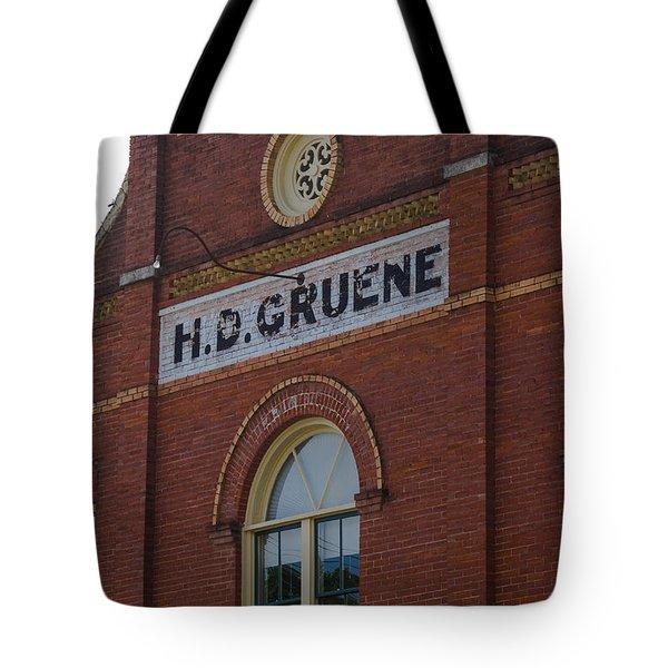 H D Gruene Tote Bag