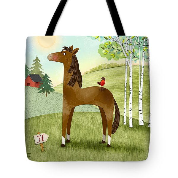 H Is For Henry The Horse Tote Bag