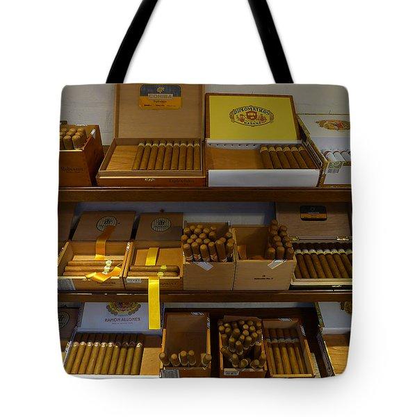 Habanas Cohibas Diplomaticos Tote Bag