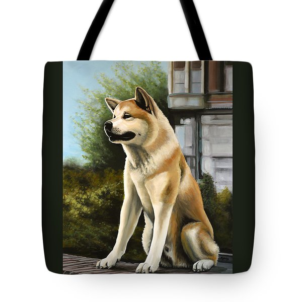 Hachi Painting Tote Bag