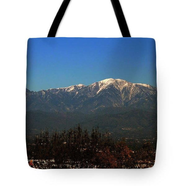 Tote Bag featuring the photograph Hacienda Heights And Industry Overlook by Clayton Bruster