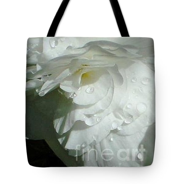Tote Bag featuring the photograph White Begonia  by Katy Mei